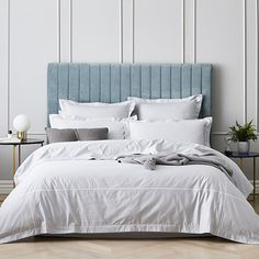 SUPER KING + EURO CASES ABD PILLOWCASES  Home Republic - Luxury Collection 1000TC Quilt Cover Silver - Bedroom Quilt Covers & Coverlets - Adairs Online