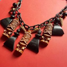 Tiki necklace, , Earrings, Bow & Crossbones, Bow & Crossbones   - 1
