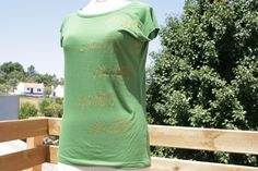 organic cotton and bamboo t shirt, high quality, hand painted, raglan, can be machine washed up to 40degrees.