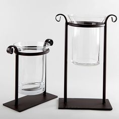 Hanging Glass Candle Holder with Metal Stand