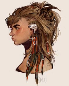 "34k Likes, 100 Comments - loish (@loisvb) on Instagram: ""More concept art of Aloy, the lead character from Horizon: Zero Dawn!  I worked on her design,…"""