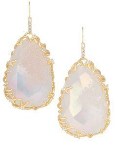 Stone Nest Drop Earrings in Iridescent Drusy - Kendra Scott LUXE