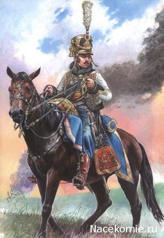 captain of the 5th Hussars in the dress uniform of the German army in 1809