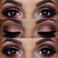 """Milani Cosmetics on Instagram: """"So into this sultry smoky eye from... ❤ liked on Polyvore featuring beauty products, makeup, eye makeup, eyeshadow, champagne eyeshadow, champagne eye makeup i champagne eye shadow"""