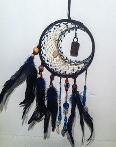 °Purifying Crystal Crescent Moon DreamCatcher by Fourbirdsfarm