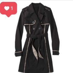 Jason Wu Black Trench Coat (M)