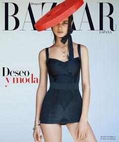 Harper's Bazaar Spain July 2015 Covers (Harper's Bazaar Spain) Dolce & Gabbana, Great Team, Harpers Bazaar, Strike A Pose, Covergirl, Tankini, Basic Tank Top, Spain, Camisole Top