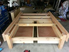 So after taking bits and pieces from the following instructables and doing a lil research and design of my own. I decided to embark on making my own platform/storage bed. This is a very bare instructable cause it was just myself taking pictures mostly. You get the basic idea/design. It cost about $380 to build with the most expensive things being the drawer slides. I still havent completely finished it so more pictures will be added. Just wanted to get this up here to hopefully inspire…
