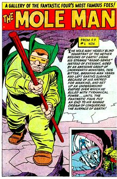 Mole Man Pin Up Art by Jack Kirby