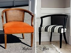 Refinished Furniture Before and After | Diptych and refinishing project by: Brittany O