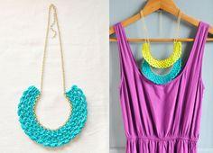 Color Pop Crocheted Bib Necklaces. $9,50, via Etsy.