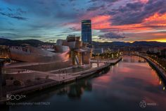 Sunset in Bilbao by ckneidinger #architecture #building #architexture #city #buildings #skyscraper #urban #design #minimal #cities #town #street #art #arts #architecturelovers #abstract #photooftheday #amazing #picoftheday
