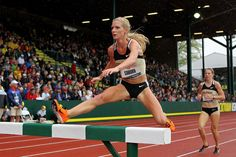 Took a lot of scraped knees to learn to run THROUGH the hurdles rather than jump OVER them. Emma Coburn, Olympic Runners, Tv Ratings, 2012 Summer Olympics, Learn To Run, Marathon Running, Hurdles, Track And Field, Sports Women