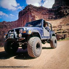 David Jones 4 wheeling on the Shafer Trail Jeep Wranler
