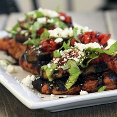 My Life as a Mrs.  » Chicken with Grilled Eggplant,Tomato, and Feta