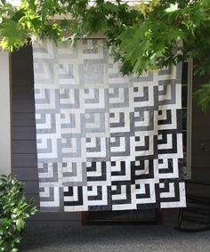 Grayscale Quilt Top, Block Tutorial
