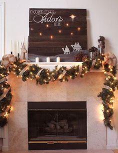 Galleria foto - Decorazioni natalizie per camino Foto 6
