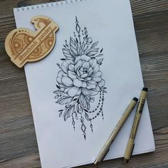 Flower tattoo desing #FlowerTattooDesigns