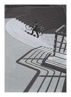 - Stanko Abadzic: Up the Stairs, Prague Shadow Art, Shadow Play, Fine Art Photography, Street Photography, Artistic Photography, Elliott Erwitt, Urban Bike, Light And Shadow, Cool Bikes
