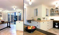 Sleek and modern with a little farmhouse.