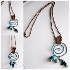 Copper and Leather, Necklace @Lindy's Designs www.facebook.com/lindysdesigns www.lindysdesigns.com