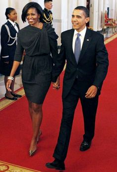 President Barack Obama and his wife Michelle Obama.