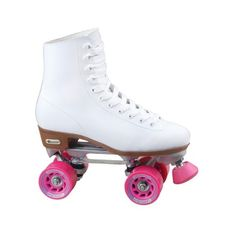 Chicago Ladies Rink Roller Skates (135 BRL) ❤ liked on Polyvore featuring shoes, lullabies, roller skates and white
