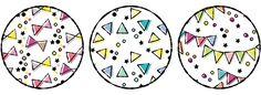 丸と三角と星だけでつくる手描き風パターン | 鈴木メモ