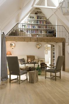 Day reading in - cottage life loft wedding, home remodeling, reading loft, read Cozy Cottage, Cottage Homes, Country Cottage Interiors, Wooden Cottage, Cottage Style Decor, Country Cottages, Rustic Cottage, Cottage Ideas, Reading Loft