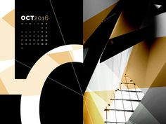 FREE Abstract Desktop Calendar - October by Bill Mawhinney. Grab your FREE abstract/typography wallpaper for October! Free design every month!