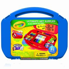 Crayola Ultimate Art Case with Easel  Art to go case with 85 items, paints, markers, pencils, scissors, glue and paper  Ages: 4 -10  Only $14.99 on Amazon