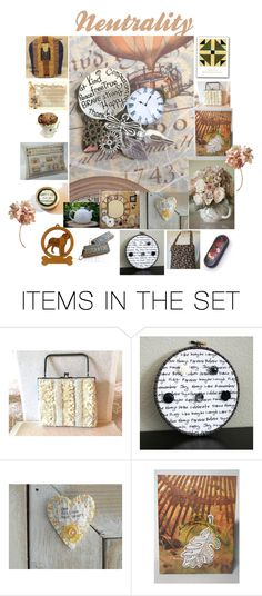 """""""Neutrality"""" by patchworkcrafters ❤ liked on Polyvore featuring art"""