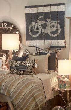 Boys bedroom at Peridot  Buckhead - Lacefield Designs pillows #lacefielddesigns www.lacefielddesigns.com #fish #applique