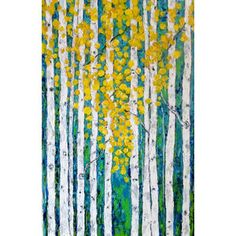 yellow flowers on forest trees