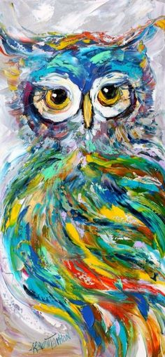 Abstract impressionism on palette knife painting, owl art, animal paintings, Modern Art Artists, Palette Knife Painting, Abstract Animals, Owl Art, Animal Paintings, Oil Paintings, Portrait Paintings, Acrylic Paintings, Abstract Canvas