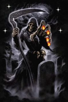 animated gifs-scary grim reaper-animation | View bigger - Reaper Flames Live Wallpaper for Android screenshot