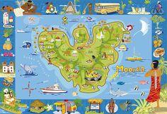 Moorea Poster - Tahiti