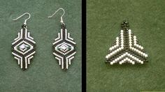 Beading4perfectionists : Earrings : How to bead a triangle with delica beads beginners tutorial, via YouTube.