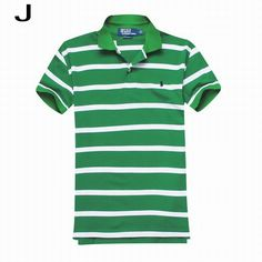 Polo Ralph Lauren\u0027s Striped Cotton Mesh Short Sleeve Shirts Marathon Green