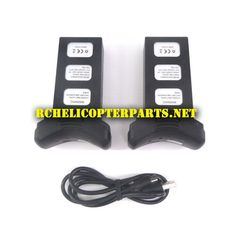 2 Rechargeable Lithium Polymer Batteries And Charging Cable Parts For IMS Skymark P70 GPS Pursuit Drone