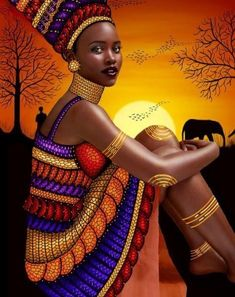 Zcuhen Throw African Woman Pillow Cases,Black Art African American Traditional Women,Pillow Covers Decorative in Pillowcase Cushion Covers with Zipper African Girl, African American Art, African Beauty, African Women, Art Black Love, Black Girl Art, Art Girl, African Art Paintings, African Artwork