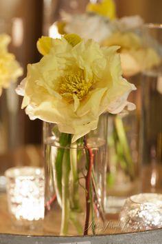 yellow and white arrangements, wedding reception, hibiscus Wedding Table, Wedding Reception, Yellow Weddings, Wedding Inspiration, Wedding Ideas, Table Arrangements, Hibiscus, Centerpieces, Wedding Decorations