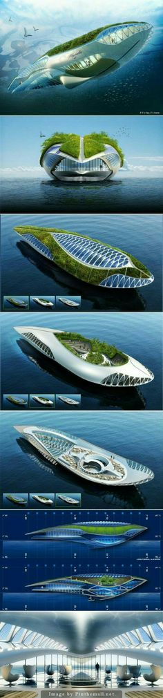 Amphibious Floating Garden That Purifies The Water, The Physalia. The Physalia project is an amphibious floating garden that purifies water.The Physalia project is an amphibious floating garden that purifies water. Architecture Durable, Floating Architecture, Futuristic Architecture, Sustainable Architecture, Amazing Architecture, Architecture Design, Environmental Architecture, Chinese Architecture, Architecture Office
