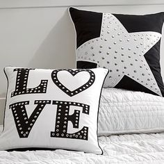 Glam Stud Pillow Cover #pbteen