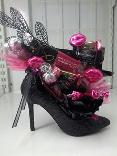 Diva-licious Shoe Bouquet!!   Riley's Sandwich & Sweet Shoppe on facebook for more