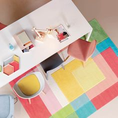 Splash rugs by the Arte Espina Trendy Line Range offers stylish design with a selection of fresh, bright coloured cubes which merge together to create a contemporary centre piece for your floor. #ModernRugs #InteriorDesign