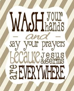 wash your hands and say your prayers because by tentinytoesdesigns, $10.00