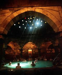Turkish Bath House-Budapest, Hungary.  This place is amazingly relaxing and so very beautiful.  The prices are reasonable and this is one of the reasons I would move to Budapest if I ever won the lottery.