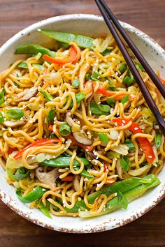This quick and flavorful vegetable ramen stir fry is so delicious! Add your favorite meat to make it a meal!
