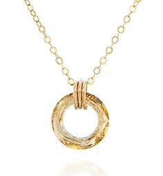 Women Letter K Pendant Wafer Necklace 18K Yellow Gold Filled Fashion Jewelry New